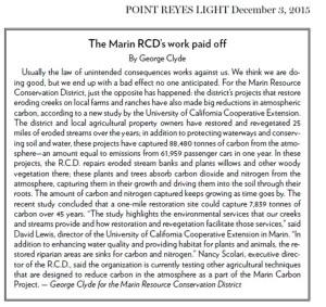 Pt. Reyes Light_12.3.15 Carbon Sequestration